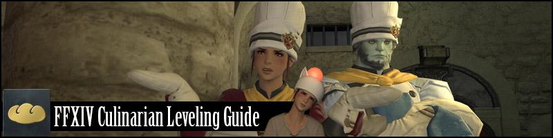 ffxiv CUL culinary culinarian leveling guide arr