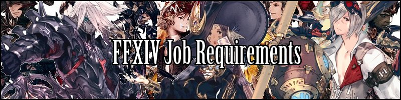 ffxiv job requirements all jobs plus dark knight astrologer machinist