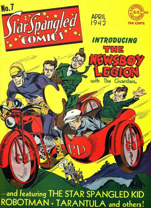 Star Spangled Comics nº7, primeira aparição da Legião Jovem