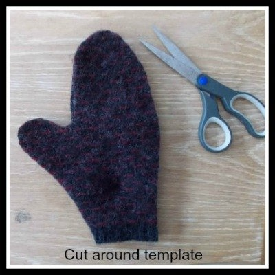 How to make mittens from a sweater, Fiberartsy.com