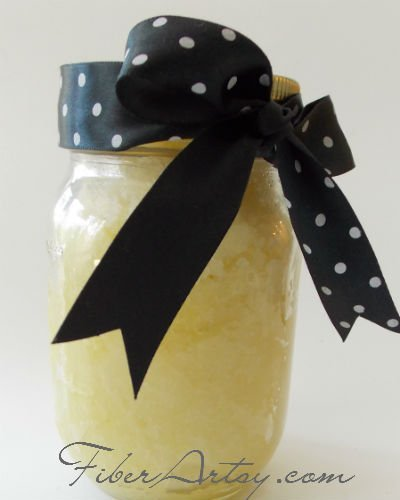 Make Your Own Lemony Sugar Hand Scrub, Fiberartsy.com