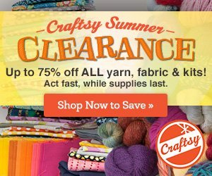 Up to 75% Off at Craftsy's Summer Supplies Clearance!