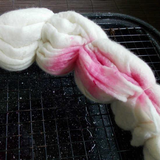 More Shibori, Suji Dyed Felted Shawl, Fiberartsy.com
