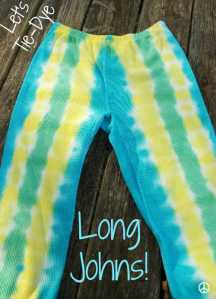 Let's Tie-Dye Long Johns! Easy Accordion Fold