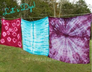 Shibori Dyeing Tea Towels with Rit