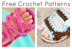 Free Crochet Patterns for Baby Boots and Sandals