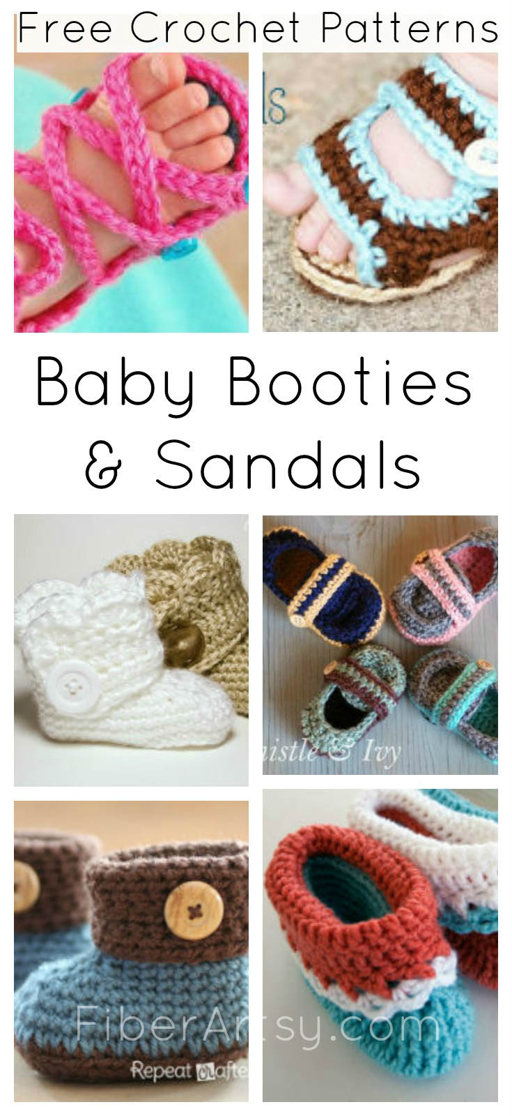 14 Free Crochet Patterns for Baby Booties - FiberArtsy.com