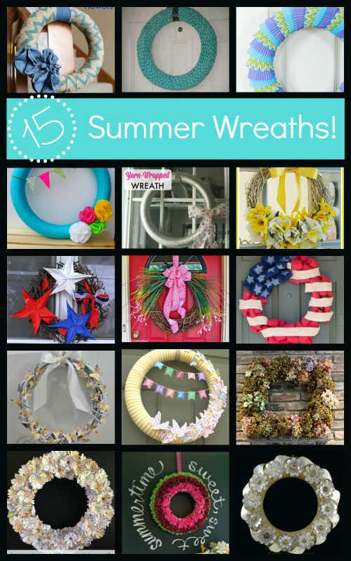 15 DIY Summer Wreath Ideas, Fiberartsy.com