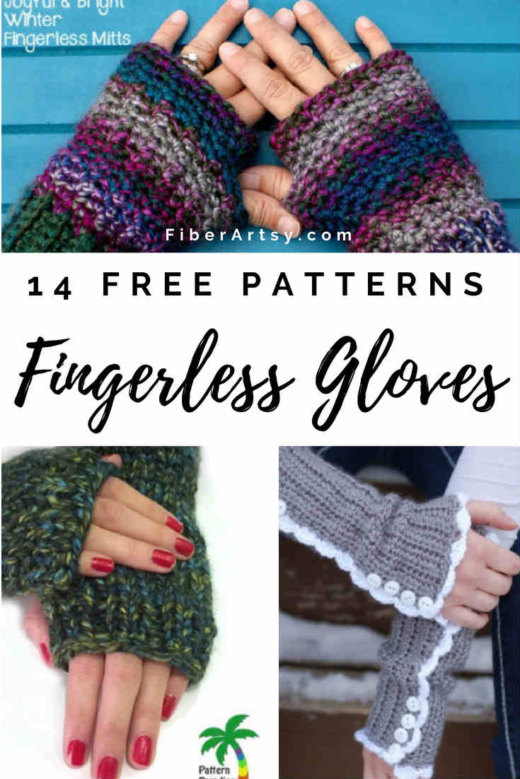 14 Free Knit and Crochet Fingerless Gloves Patterns