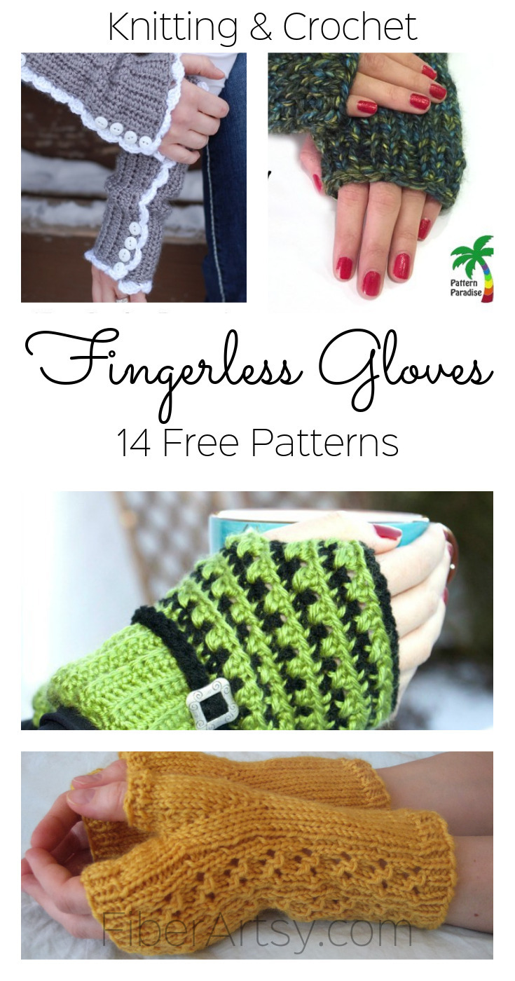 14 free fingerless glove patterns by fiberartsy fingerless glove patterns knit crochet fiberartsy bankloansurffo Choice Image