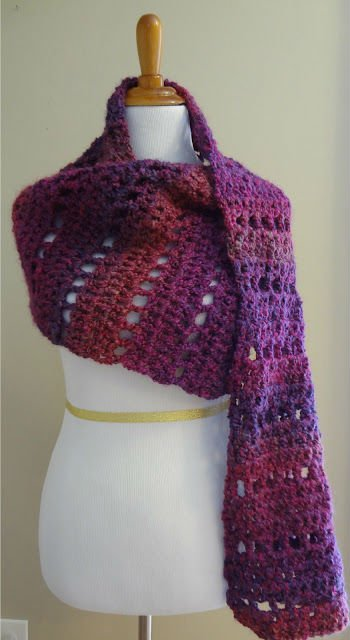 Purple Crochet Shawl Pattern by Moogly
