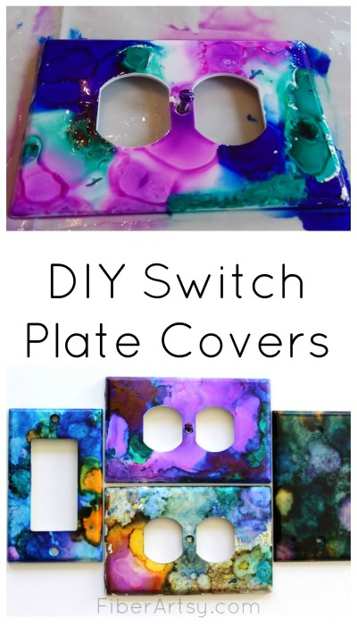 DIY Switch Plate Covers, FiberArtsy.com