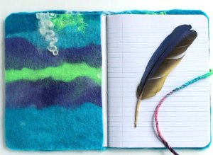 DIY Felted Journal Cover
