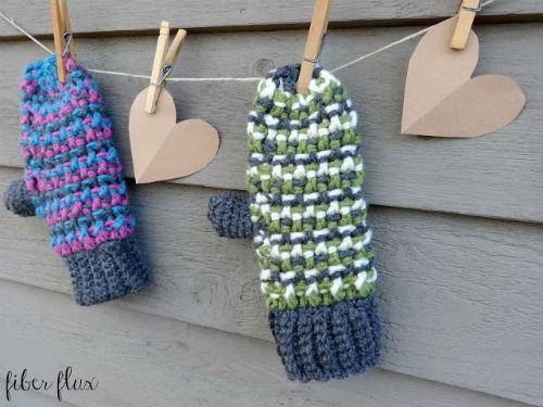 Sleigh Ride Mittens, Free Mitten Crochet Pattern