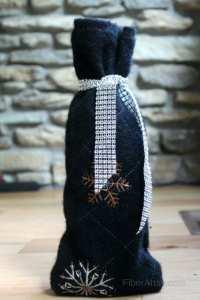 Simple DIY Wine Bottle Sweater