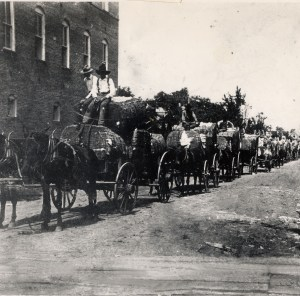 cotton wagons on Washington st