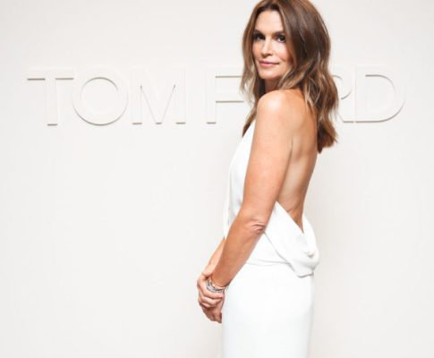 Getting ready for Tom Ford's NY Show with Cindy Crawford.