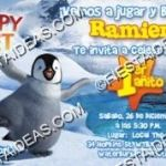 invitacion happy feet