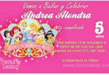 invitacion princesas disney