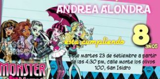 invitacion monster high 3