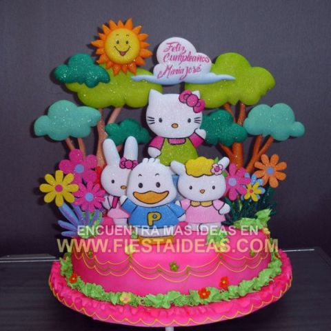 Ideas de decoracion de Torta Hello Kitty