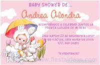 invitaciones baby shower de conejitas para nena