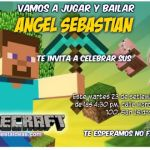 invitaciones Minecraft
