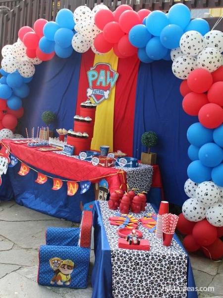 Fiesta de paw patrol patrulla canina con decoraciones for Decoracion de fiestas