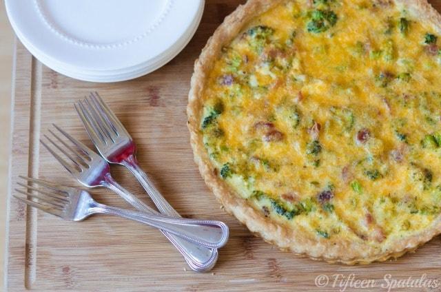 Cheddar Broccoli Bacon Tart » Fifteen Spatulas