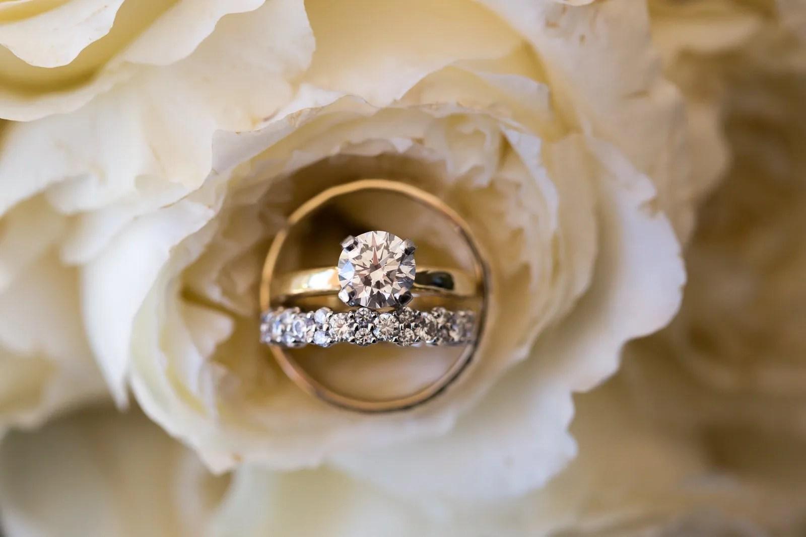 wedding ring close up shot