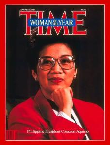 Because of the success of the EDSA Revolution, Corazon Aquino was named as Time Magazine's Woman of the Year for 1986