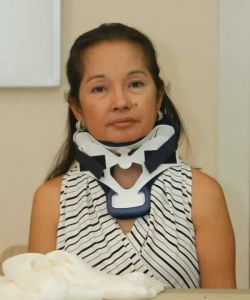 This photo of former Pres. Gloria Arroyo, seen here wearing a Miami J brace, was taken by Bullit Marquez of Associated Press just before she was transferred to VMMC
