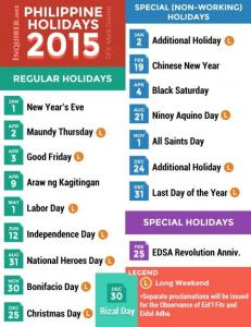 philippine holidays 2015
