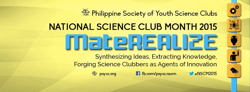 "National Science Club Month 2015 theme - ""MateREALIZE"""