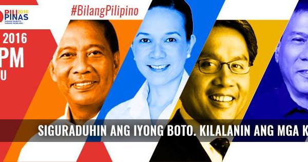 second philippine presidential debate 2016