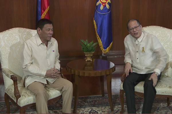 rodrigo duterte and noynoy aquino