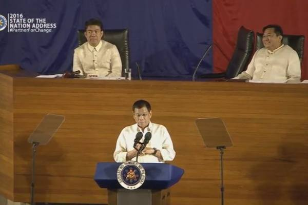 complete transcript duterte 2016 state of the nation address