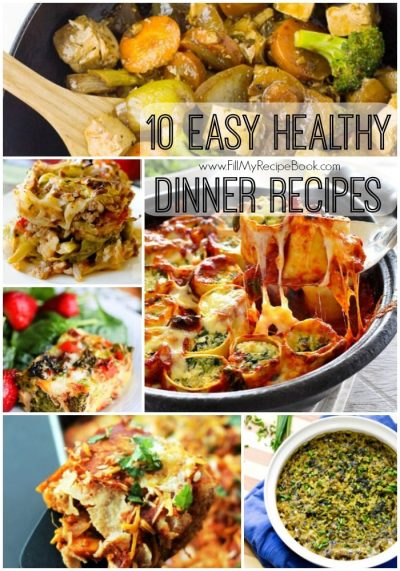 10 Easy Healthy Dinner Recipes - Fill My Recipe Book