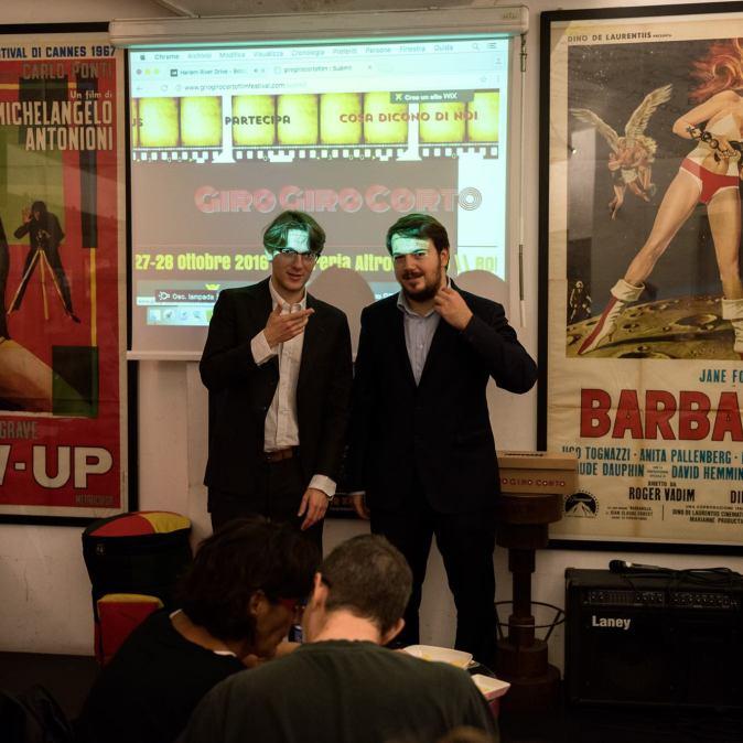 I due organizzatori Gianlorenzo Lombardi e Matteo Bonanni durante la scorsa edizione