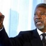 Koffi Annan met le doig sur le gap