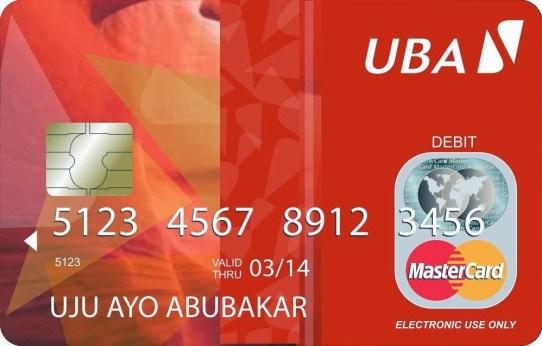 UBA Mastercard CLASSIC with fake BINS