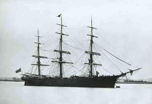The Royal Dane, on which the family sailed to Australia