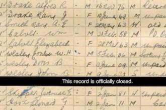 Gertrude on the 1939 Register