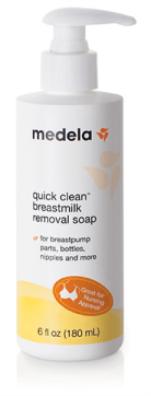 Medela Quick Clean Breast Milk Removal Soap can remove the ick from just about anything.