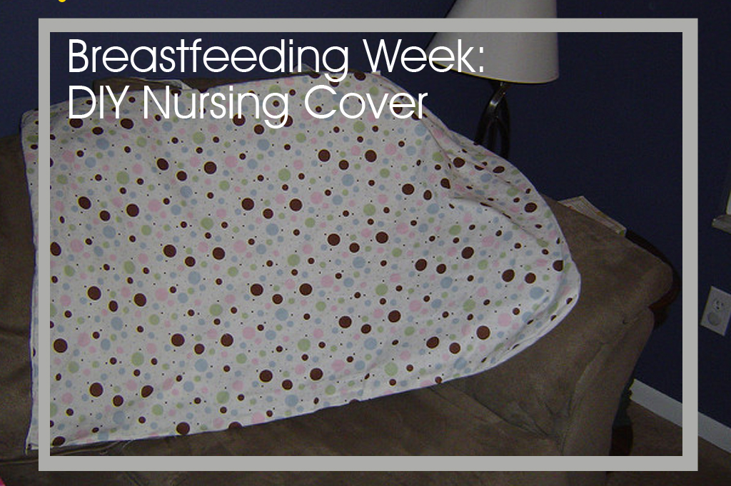 This DIY nursing cover is easy to make a provides privacy some moms need to feel comfortable nursing in public.