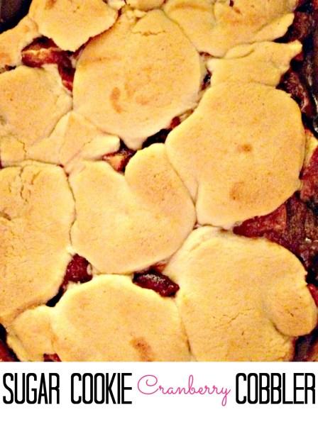 Cranberry Sugar cookie Cobbler