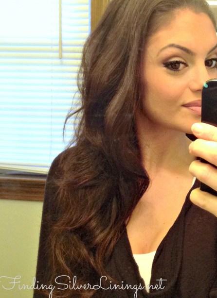Voluminous wavy hair
