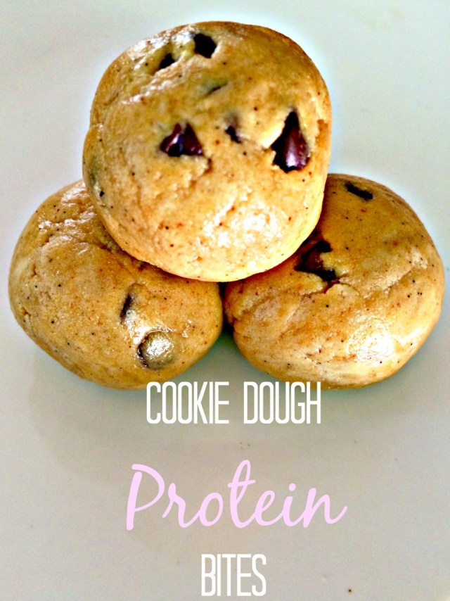 4 ingredient protein bites that tasxte exactly like cookie dough