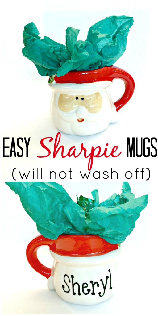 No more pinterest fails with the Sharpie mug!  Use an oil based sharpie paint pen and writing will not wash off!