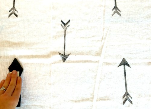 hand stamped arrow blanket